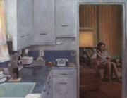 Home Interior Paintings - After Dinner by David Clemons