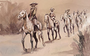 Frederic Remington Posters - After In The Desert by Frederic Remington Poster by Kate Black
