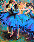 Ballet Dancers Painting Prints - AFTER MASTER DEGAS-My own version Print by Susi Franco