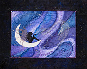 Stitching Paintings - After Midnight by Deborah Younglao