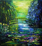 Nympheas Prints - After Monet Print by Pol Ledent