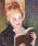 Pointillism Art - After Renoir by June Hunt