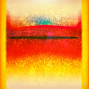 Yellow  Digital Art Posters - After Rothko 8 Poster by Gary Grayson