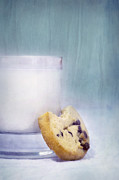 Glass Still Life Posters - After School Snack Poster by Priska Wettstein