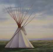 Prairie Sunset Paintings - After Solstice by Janice Tanton