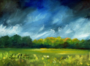 Llmartin Painting Prints - After Spring Rain Print by Linda L Martin