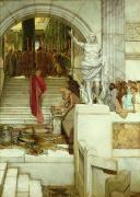Audience Paintings - After the Audience by Sir Lawrence Alma-Tadema