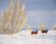 Snow Scene Paintings - After the Big Snow by Stana Stoker