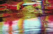 Backgrounds Metal Prints - After The Rain Abstract 2 Metal Print by Tony Cordoza