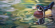 Birds Pastels Prints - After the Rain Print by Deb LaFogg-Docherty