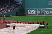 Red Sox Metal Prints - After the Rain Delay Metal Print by Mike Martin