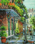 Bourbon Street Posters - After the Rain Poster by Dianne Parks