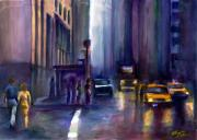 Intersection Paintings - After the Rain by Elizabeth Shrum