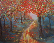 Inspire Paintings - After The Rain In Autumn by Monika Dickson
