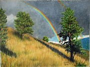Prismacolors Drawings Posters - After The Rain Poster by Kenny King
