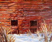 Old Barn Paintings - After The Snow II by L Diane Johnson