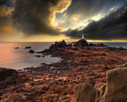 Lighthouse Photo Prints - after the storm at La Corbiere Print by Meirion Matthias
