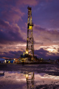 Oil Rig Prints - After The Storm Print by Jonas Wingfield