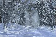 Snow Storm Paintings - After The Storm by Ken Ahlering