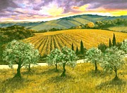 Tuscan Sunset Painting Prints - After the Storm Orig. For Sale Print by Michael Swanson