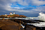 Cape Neddick Lighthouse Prints - After the Storm Print by Sara Hudock