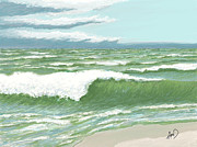 Cape Cod Paintings - After The Storm Sunday by Douglas Auld