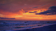 Panama City Beach Fl Prints - After the Sunset Print by Sandy Keeton