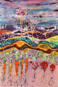 Earth Tapestries - Textiles Prints - After the Thunderstorm Print by Carol Law Conklin