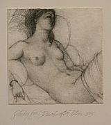 Female Figurative Paintings And Drawings - After Titian by Gary Kaemmer