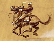 Frederic Remington Posters - After Ugly On The Wild Charge He Made by Frederic Remington Poster by Kate Black