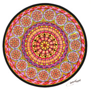 Round Pastels Prints - Afterglow Print by Marcia Lupo