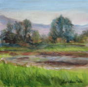 Quin Sweetman Paintings - Afternoon at Sauvie Island Wildlife Viewpoint by Quin Sweetman