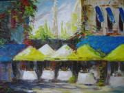 Bistro Paintings - Afternoon at the Cafe by Scott Jones