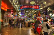 Pike Framed Prints - Afternoon At The Pike Street Market Seattle Washington Framed Print by Lawrence Christopher