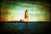 New England Lighthouse Prints - Afternoon at the Whaleback Lighthouse New Hampshire USA Print by Sabine Jacobs