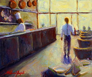 Bistro Paintings - Afternoon Bistro by Michael Besoli