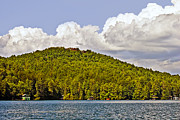 Susan Leggett Prints - Afternoon Clouds Over Lake Print by Susan Leggett