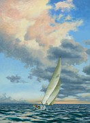 Sailboat Ocean Paintings - Afternoon Delight by Michael Swanson