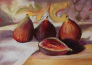 Figs Framed Prints - Afternoon Figs Framed Print by Jeanne Rosier Smith