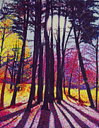 Cindy Longhini Prints - Afternoon Forest Print by Cindy Lee Longhini