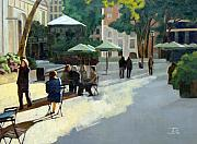 Bryant Paintings - Afternoon in Bryant Park by Tate Hamilton