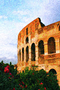 Rome Cityscape Paintings - Afternoon in Rome by Rob Tullis