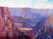 National Parks Paintings - Afternoon In the Canyon by Terry  Chacon