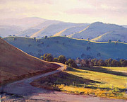 Rural Scenes Paintings - Afternoon light Kanimbla valley by Graham Gercken