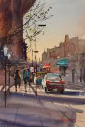 City Scene Paintings - Afternoon Light by Ryan Radke