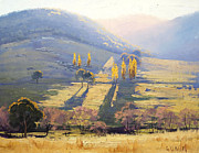 Landscapes Painting Prints - Afternoon Light Tarana  Print by Graham Gercken