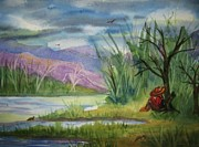 Hiker Paintings - Afternoon Nap by Ellen Levinson
