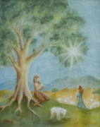 Faun Painting Posters - Afternoon of a Faun Poster by Bernadette Wulf