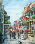 New Orleans Oil Painting Metal Prints - Afternoon on St. Ann Metal Print by Dianne Parks