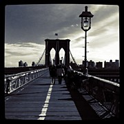 Cities Art - Afternoon on the Brooklyn Bridge by Luke Kingma